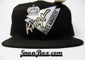 Image of LOS ANGELES LA KINGS TRIANGLE SCRIPT SNAPBACK