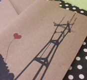 Image of Heart from Sutro Tower note card