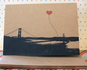 Image of San Francisco Lovers pack of 3 note cards