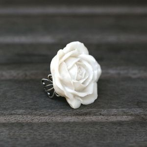 Image of Dramatic Rose Bloom Adjustable Ring - 4 Colors