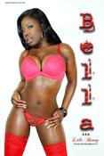 Image of Bella Poster - Red Lingerie 