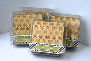 Image of hexagonal coasters