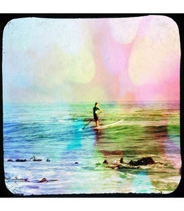 Image of Retro Art Print-Pop Art Photo ♥PADDLE SURFER♥