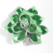 Image of Zipper Pin SALE lime/silver
