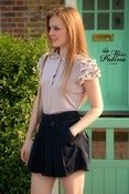 Image of Miss Patina British Style Skirt-Like Shorts (Navy)