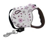 Image of Floral Fling Retractable Leash on UncommonPaws.com
