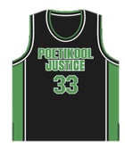 Image of Personalised PJ Black Basketball Singlet (mens &amp; womens)