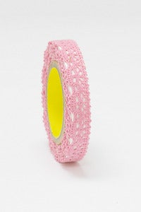 Image of 1 pack lace tape - 12mm x 2M - Dark Pink - LT3018