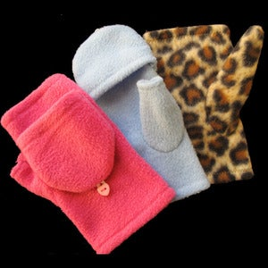 Image of Convertible Fingerless Fleece Gloves/Mittens - Sewing Tutorial - Kids, Men, Women