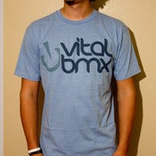 Image of New Age Logo T-shirt, Light Blue Heather