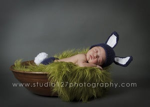 Image of Bunny Rabbit Hat and Fluffy Tail Diaper Cover