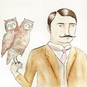 Image of The Falconer Illustration Giclee Art Print