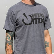 Image of Vents Logo T-Shirt, Charcoal Heather