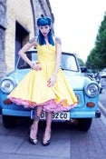Image of Plain Yellow Halterneck Dress
