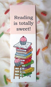 Image of Bookmark: Reading is Totally Sweet