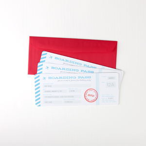 Image of boarding pass invitations