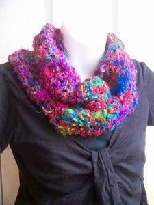 Crochet This! Darn Good Yarn Random Stitch Cowl $2.99