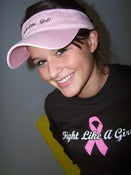 Image of Fight Like A Girl Pink Visor