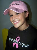 Image of Fight Like A Girl Rhinestone Pink Cap