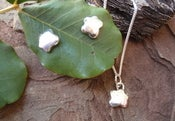 Image of flower pad earrings and matching pendant