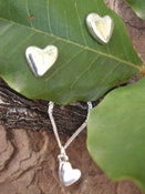 Image of sweetheart earrings and matching pendant