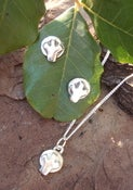 Image of mini tree earrings and matching pendant