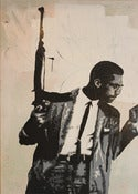 Image of malcolm x print - matted and bagged