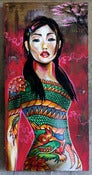 Image of Tattoo Girl - original painting on canvas