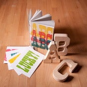 Image of ABC Book, Wood Type Cards, and ABC Teethers Gift Set