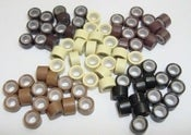 Image of Silicone Micro Rings &amp; Long Copper / Beads for Hair Extensions