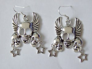 Image of Demon Skull Star Earrings