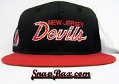 Image of VINTAGE NEW JERSEY DEVILS SCRIPT SNAPBACK