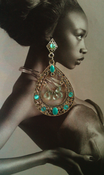 Image of Aqua Chandelier Earrings 