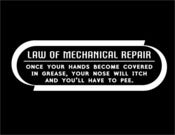 Image of Law Of Mechanical Repair T Shirt