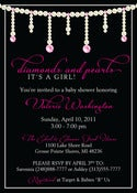Image of Diamonds and Pearls Invitation