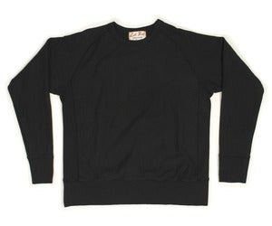 Image of Black Crossgrain Ringspun Cotton Terry Crew