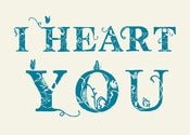 Image of I Heart You Print - Available in 3 sizes