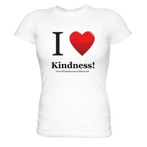 Image of I HEART Kindness Ladies T Shirt