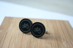 Image of bicycle cuff links