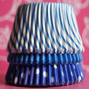 Image of Blue Love Cupcake Liner Set