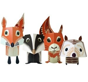 Image of FOREST FRIENDS PAPER ANIMALS