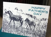 Image of Happy Father's Day Zebras note card