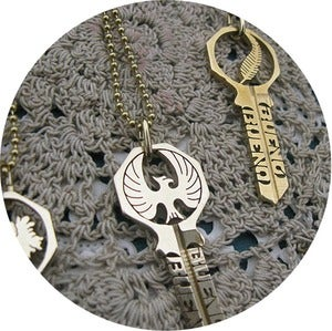 Image of KEY NECKLACE: Birds of a Feather