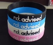 Image of Not Advised - 'Logo' Wristband [Individual]