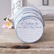 Image of Antique Round French Pill Box