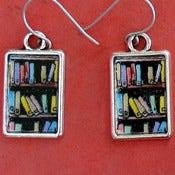 Image of Bookshelf Earrings