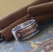 Image of Hardwear ring hand stamped sterling silver and copper