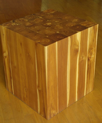 Image of Teak Ring Side Table/Stool