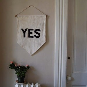 "Image of ""YES"" Affirmation Banner"