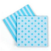 Image of Blue Dots and Stripes Napkins